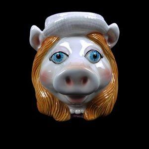 Vintage MISS PIGGY Muppets 3D Portrait Mug Cup